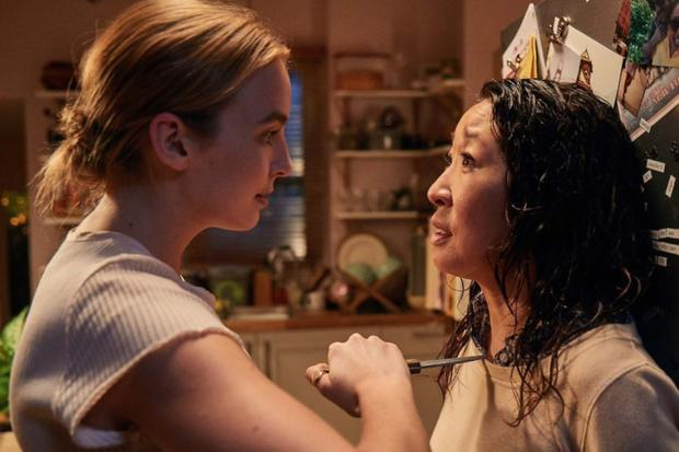 Villanelle (far left) is more like The Terminator than a psychopath in Killing Eve