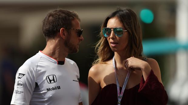 Jenson Button and Brittny Ward (David Davies/PA)