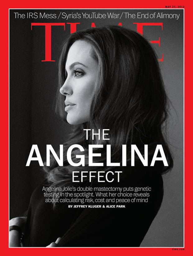 Angelina Jolie is now a contributing editor to Time magazine, which she has featured in numerous times