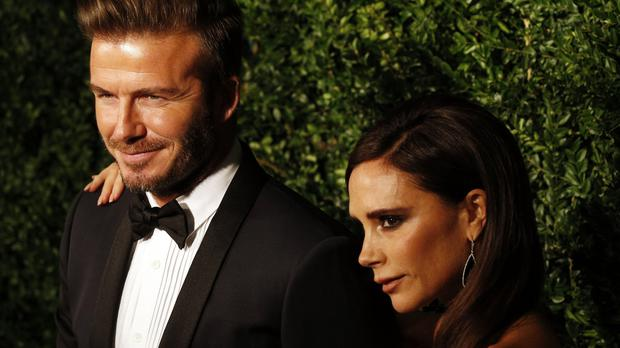 David and Victoria Beckham married 20 years ago (PA)
