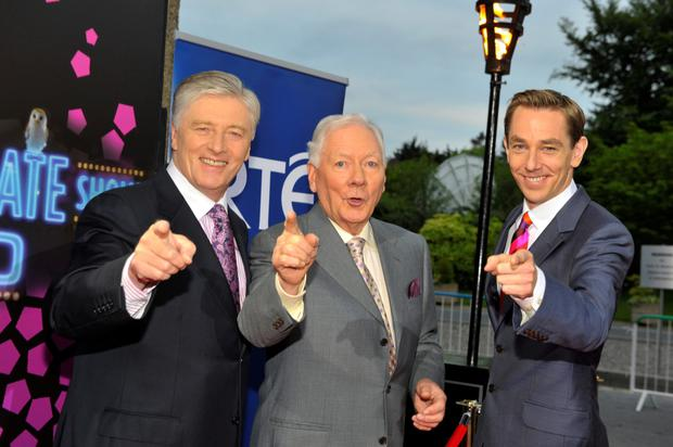 Pat, Gay and Ryan at The Late Late Show 50th anniversary in 2012