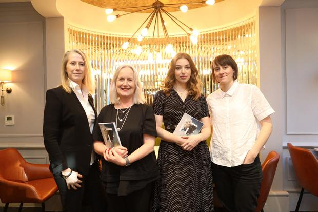 Pictured at the launch of the Fís Éireann/ Screen Ireland 2019 Slate of Productions Irish Film 2019 in Dublin today were l-r, Neasa Hardiman Director, Writer; Dr Annie Donna, Chair of the Board of Fis Eireann/ Screen Ireland; Seana Kerslake, Actress and Louise Bagnell, Animation Producer.