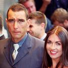 Vinnie Jones and his wife Tanya (Michael Crabtree/PA)