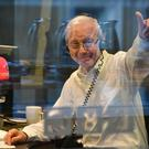 John Humphrys in the studio for his final Today broadcast (Jeff Overs/BBC/PA)