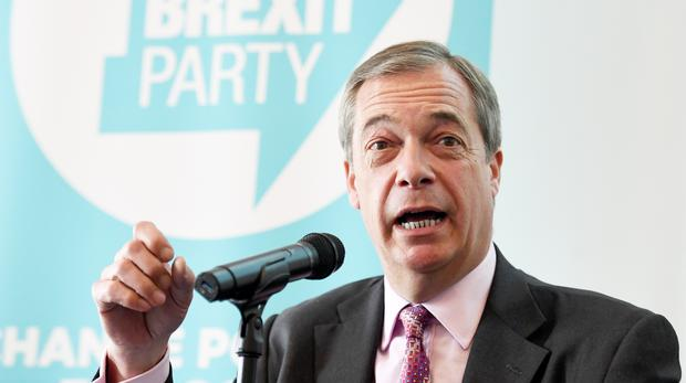 Brexit Party leader Nigel Farage (Stefan Rousseau/PA)