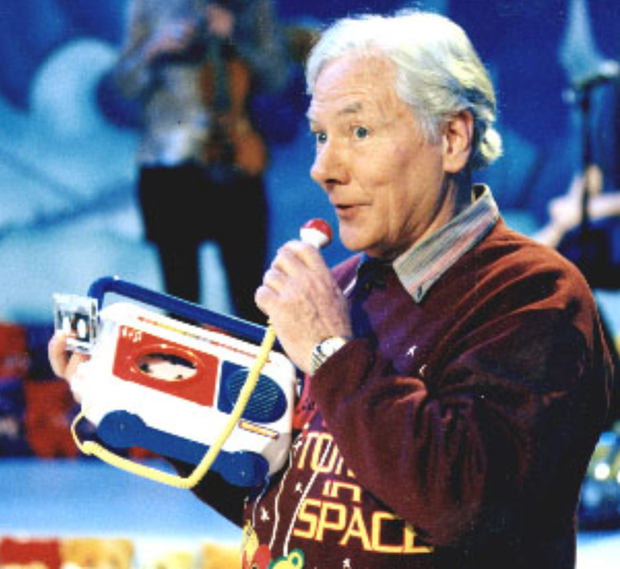 Gay Byrne hosting The Late Late Toy Show
