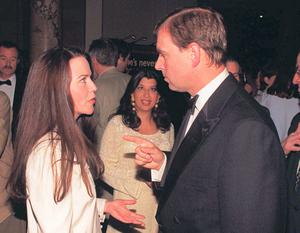 Old flames Koo Stark and Prince Andrew