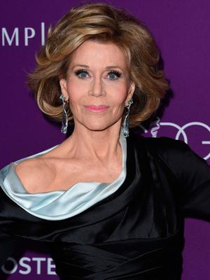 Jane Fonda pictured earlier this year