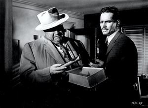 Orson Welles and Charlton Hestin in a Touch of Evil.