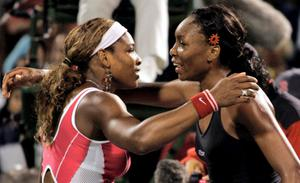 Venus (right) and Serena Williams' details were accessed