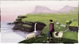 Illustration of the Faroe Island from Amazing Islands by Sabrina Weiss (What on Earth Books)