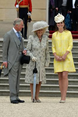 Camilla, Duchess of Cornwall, with Catherine, Duchess of Cambridge - Camilla is the subject of Penny Junor's account of love and aristocratic titles