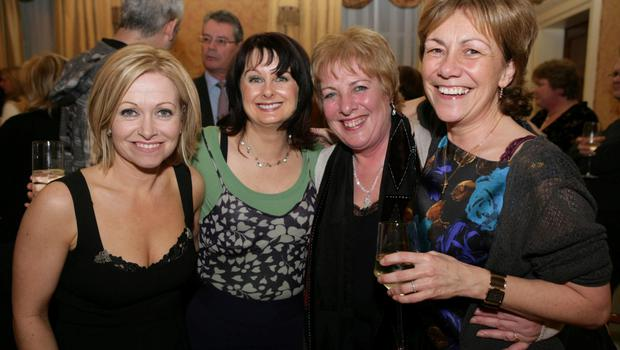 Million-selling women: Four of Ireland's top women authors, from left, Cathy Kelly, Marian Keyes, Patricia Scanlan and Sheila O'Flanagan. Photo: Robert Doyle