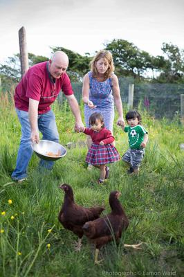 Precious gifts: Seán Malone and Fiona Whyte with their children Ruby and Donal. Photo: Eamon Ward