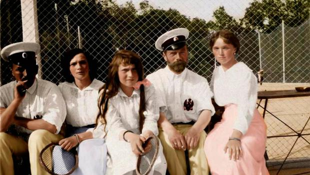Royal court: Tsar Nicholas II with his daughters. Photo: Getty