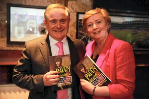 Minister Brian Howlin and Minister Frances Fitzgerald at the launch of John Drennan's new book Paddy Machiavelli at Doheny and Nesbitts in Dublin. Picture: Arthur Carron