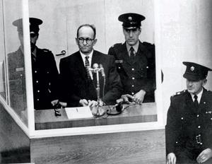 In the dock: Adolf Eichmann