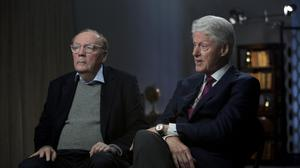 James Patterson and former US President Bill Clinton. Photo: Zach Pagano/Getty Images