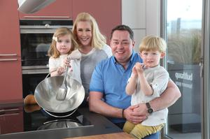 Neven Maguire, his wife Amelda and children Connor and Lucia