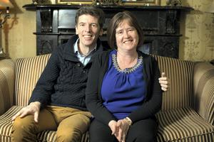 Right Chemistry: Mary Deasy lectures full-time, while former lecturer Adrian Millar is an author and stay-at-home dad to their three daughters. Photo: Tony Gavin