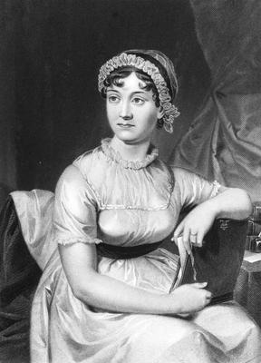 The author Jane Austen from an original family portrait.   (Photo by Hulton Archive/Getty Images)