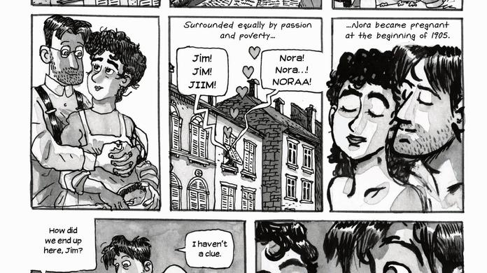 Portrait of Joyce and Nora as young lovers - Independent ie