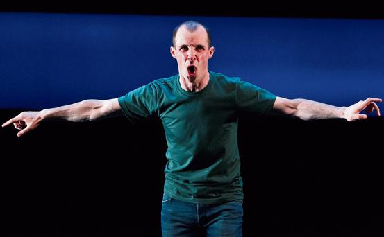 Tom Vaughan-Lawlor in Howie the Rookie written and directed by Mark O'Rowe. Photo: Patrick Redmond