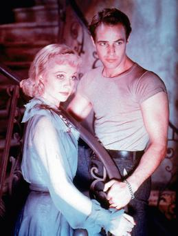 Long shadow: 'Streetcar' stars Vivien Leigh and Marlon Brando and, left, Ethan McSweeny