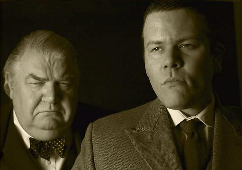 The Morans, father and son, play Collins and Churchill as they lock horns in London