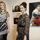 EXHIBITION: Jill French, sister of Katy French, and Emily Bruton, daughter of ex-Taoiseach John Bruton, at the Mart Gallery, Rathmines.