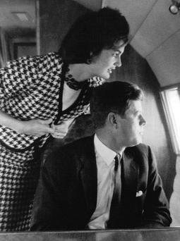 FAMILY AFFAIR: John F Kennedy with wife Jackie in 1960 when he was still a senator