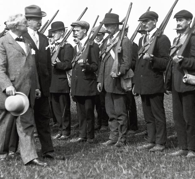 Height of his powers  John Redmond inspecting Irish national volunteers in  1915 e4a49a7db