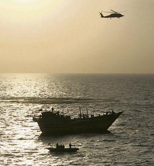 US Navy rescues an Iranian fishing boat that had been commandeered by suspected Somali pirates
