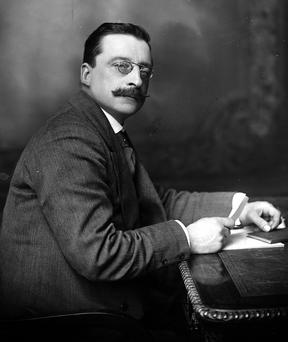 SECOND FIDDLE: Arthur Griffith's impact was overshadowed by Michael Collins and Eamon deValera. Photo: Hulton-Deutsch Collection/Corbis