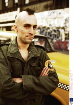 Are you talking to me?: Robert De Niro as Travis Bickle in 'Taxi Driver'.