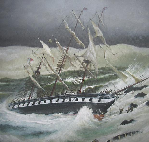 Frank Fallon's painting of the Tayleur