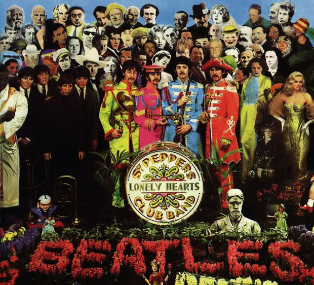 Admired: William Burroughs featured in the iconic 'Sgt Peppers' album cover