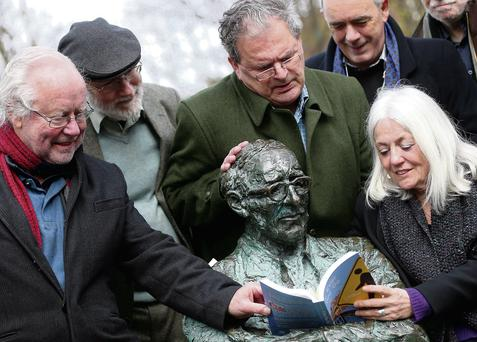Pictured (l to r) at the launch: Brendan Kennelly, Dermot Bolger, Gabriel Rosenstock, Theo Dorgan and Paula Meehan. Jason Clarke