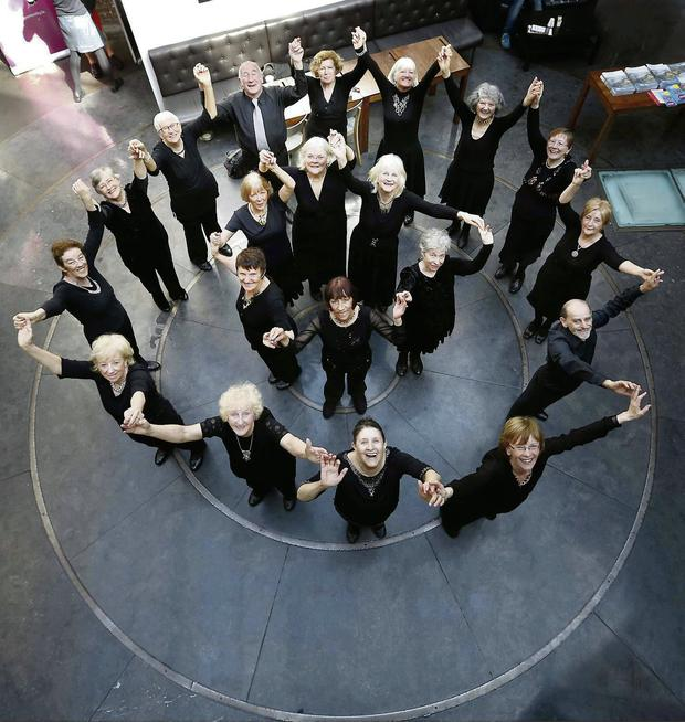 Dancers from the CoisCeim seniors' troupe performing for the launch of Bealtaine Arts Festival, which celebrates creativity in older people. Photocall Ireland/Sasko Lazarov