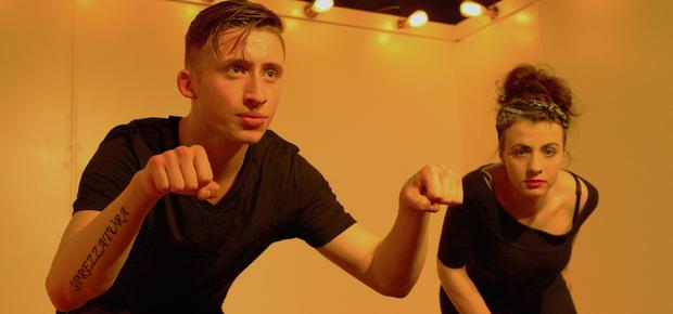 Conall Keating and Amilia Clarke Stewart in the spectacular Leper+Chip