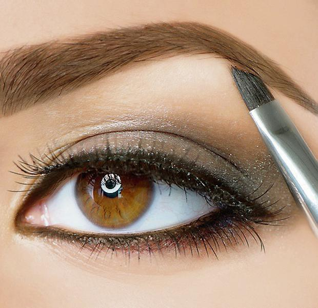 'For perfectly defined brows, be sure to use two shades of pencil'