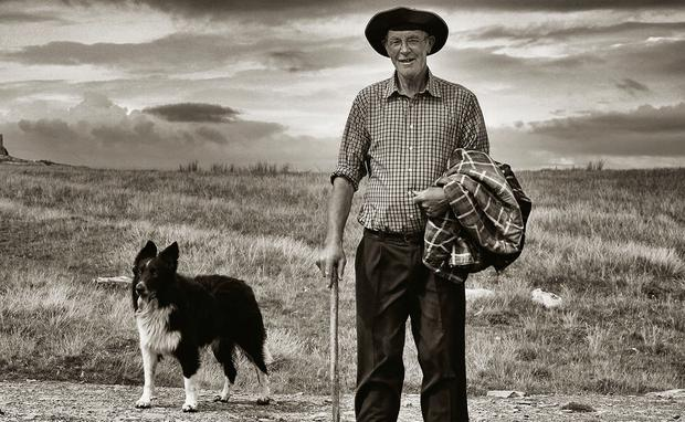 Paddy Joe Heanue and his dog from 'Ireland's Western Islands'