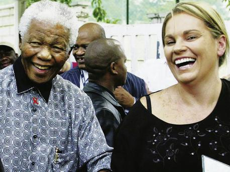 Trusted companion: Nelson Mandela with his secretary, Zelda la Grange