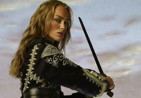 Swashbuckling adventures: Keira Knightley in Pirates of the Caribbean: At World's End