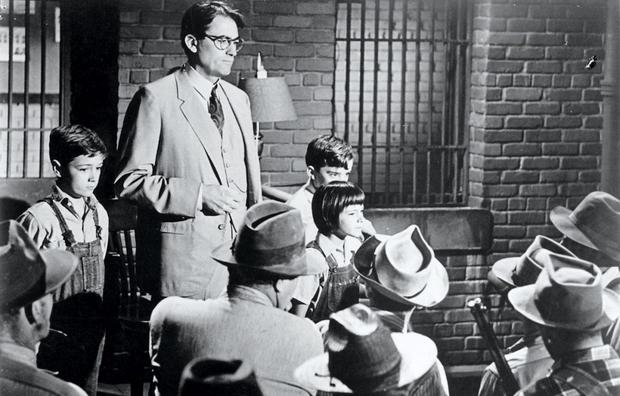 Gregory Peck in the 1962 film version of To Kill a Mockingbird
