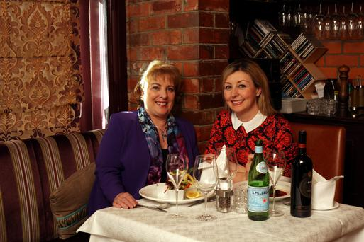 Royal welcome: Patricia Scanlan and Edel Coffey at Picasso Restaurant in Clontarf, Dublin. Photo: Martin Maher.