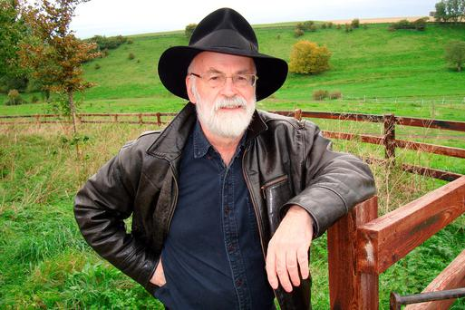 The late Terry Pratchett: his fifth and final novel of the Discworld series, based on one-time trainee with Tiffany Achings will be released next month