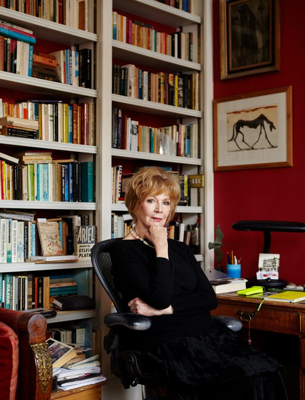 Routine: Edna O'Brien, pictured in her London home, writes daily, in longhand