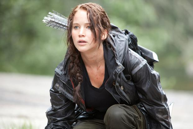 Jennifer Lawrence in the 'Hunger Games'