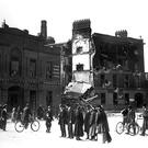The ruins of Liberty Hall in Dublin after the 1916 insurrection.